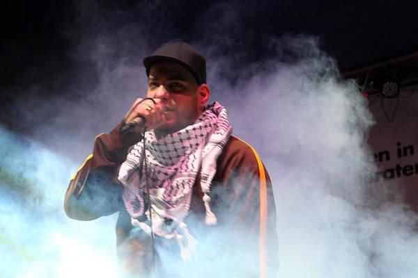 Manger Photograph - Danny Fresh Musical Concert At Manger Square by Munir Alawi