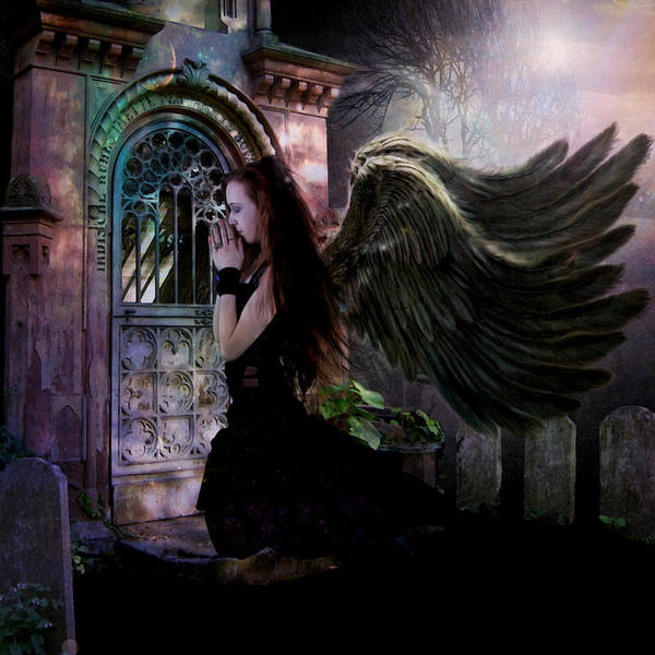 Serenity Prayer Digital Art - Dark Angel by Patricia Ridlon