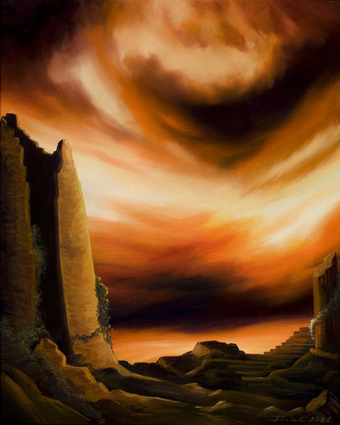 Painting - Dark Columns by James Christopher Hill