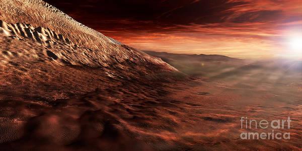 Mound Digital Art - Dark Dunes March Along The Floor by Steven Hobbs