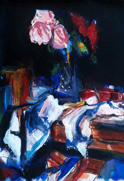 Painting - Dark Rose by John Jr Gholson