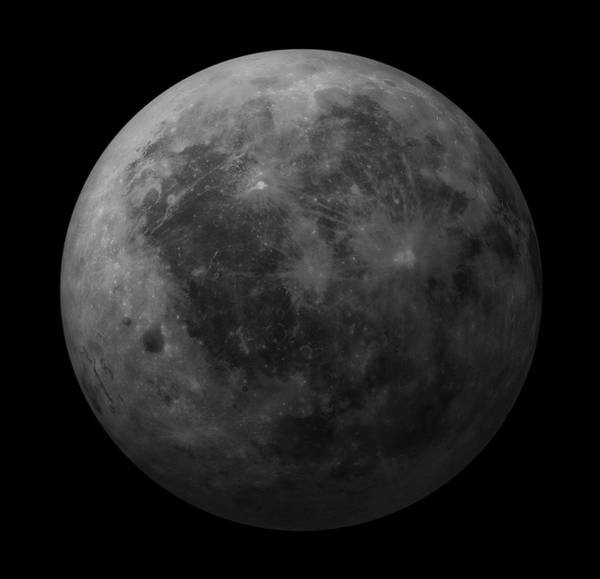 Planets And Moons Digital Art - Dark Side Of The Moon, Artwork by Andrzej Wojcicki