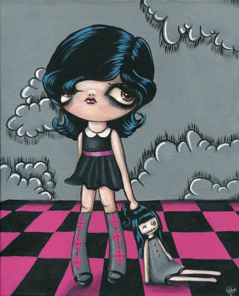 Emo Painting - Darkside Dolly by Sour Taffy