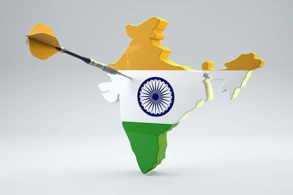 Object Digital Art - Dart Arrow In A Shape And Ensign Of India by Dieter Spannknebel