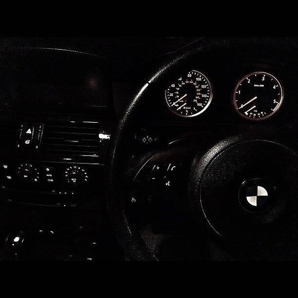 Bmw Photograph - #dash #dashboard #nightshot #bmw #e61 by Mark  Thornton