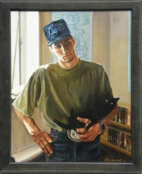 Painting - David And Pulim Framed by Lori Brackett