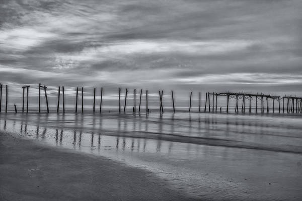 Photograph - Dawn In Oc In Black And White by Tom Singleton