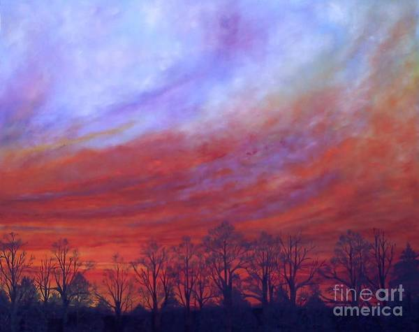 Wall Art - Painting - Dawning Of The Day Of Atonement Center Panel by Lisa Bell