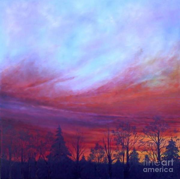 Wall Art - Painting - Dawning Of The Day Of Atonement Left Panel by Lisa Bell
