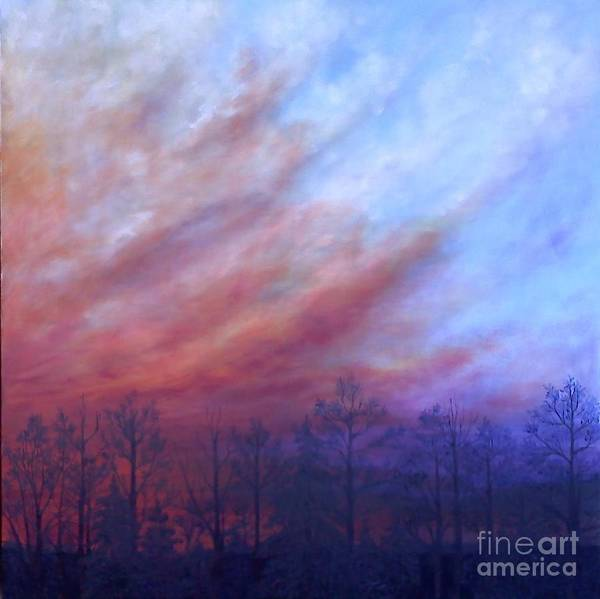 Wall Art - Painting - Dawning Of The Day Of Atonement Right Panel by Lisa Bell