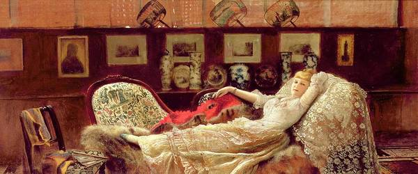 Seductive Painting - Day Dreams by John Atkinson Grimshaw