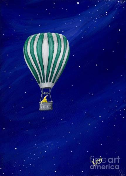 Wall Art - Painting - Daydreaming In A Hot Air Balloon by Kerri Ertman