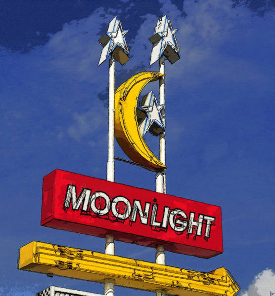 Drive-ins Painting - Daylight At The Moonlight by David Lee Thompson