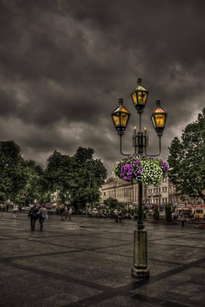 Lamp Photograph - Days Of Thunder by Evelina Kremsdorf