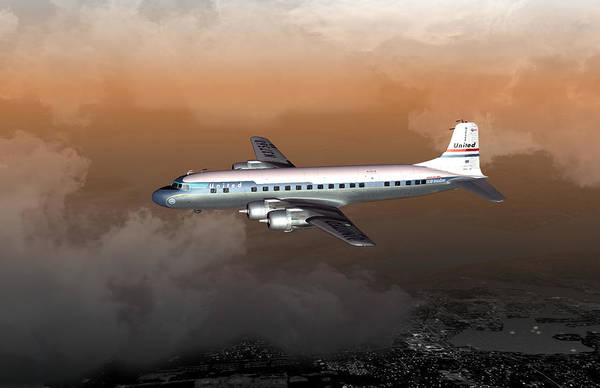 Digital Art - Dc-6 01 17x11 by Mike Ray