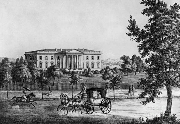 1841 Photograph - D.c.: White House, C1841 by Granger