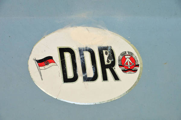 Photograph - Ddr Sticker by Matthias Hauser