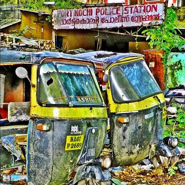 Transport Photograph - Dead Auto-rickshaws In #fortkochi by Richard Randall