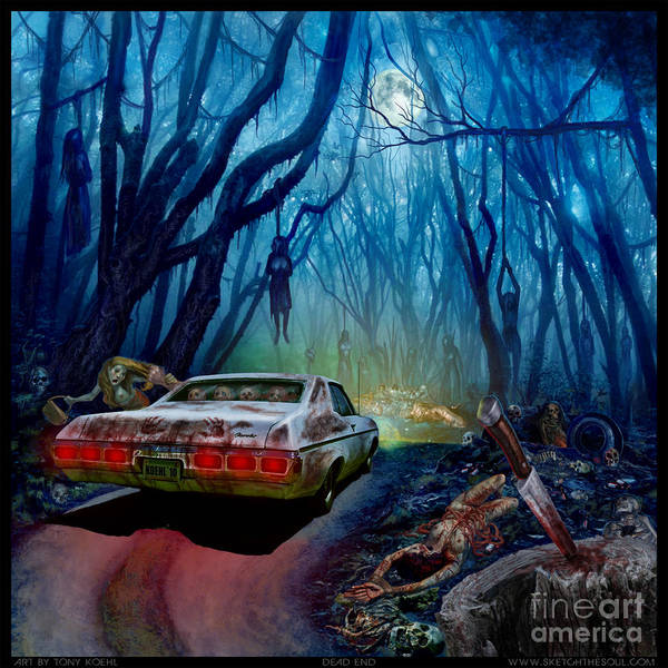 Mixed Media - Dead End by Tony Koehl