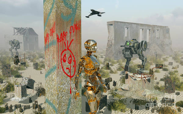 Cyborg Digital Art - Death, Ruins And Decay Following by Mark Stevenson