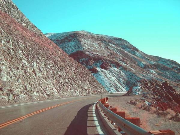 California Mountains Photograph - Death Valley Road 2 by Naxart Studio