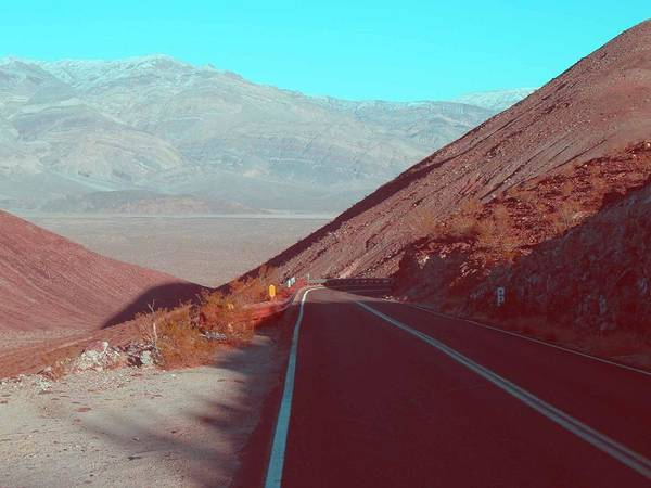 California Mountains Photograph - Death Valley Road 3 by Naxart Studio