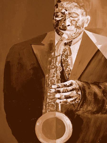 Sax Painting - Dedication To Bird - Jazz by Forartsake Studio