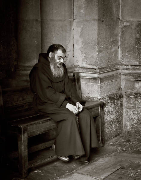 Church Of The Holy Sepulcher Photograph - Deep In Prayer by Endre Balogh