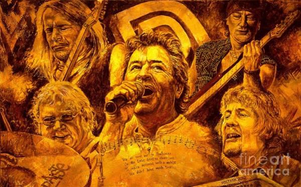 Bass Guitar Painting - Deep Purple In Rock by Igor Postash