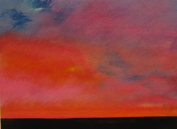 Wall Art - Painting - Deep Sunset  by Jane Ubell-Meyer
