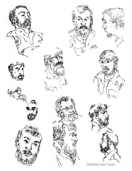 Drawing - Deepfreeze-s.pole-art2 by Gordon Punt