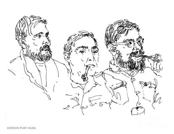 Drawing - Deepfreeze-s.pole-art3 by Gordon Punt