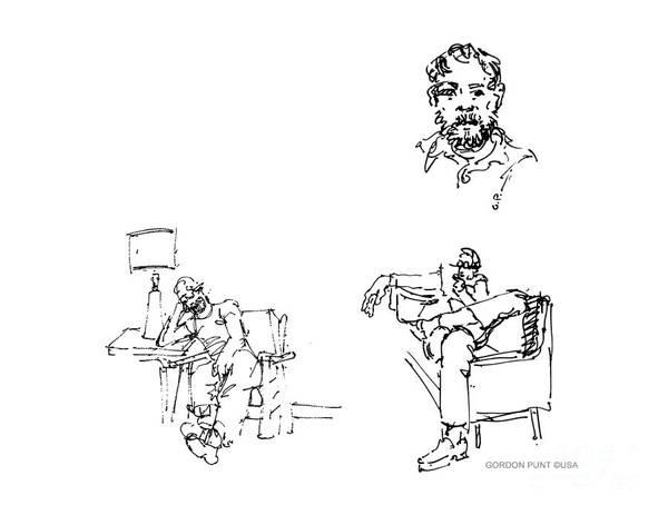 Drawing - Deepfreeze-s.pole-art4 by Gordon Punt