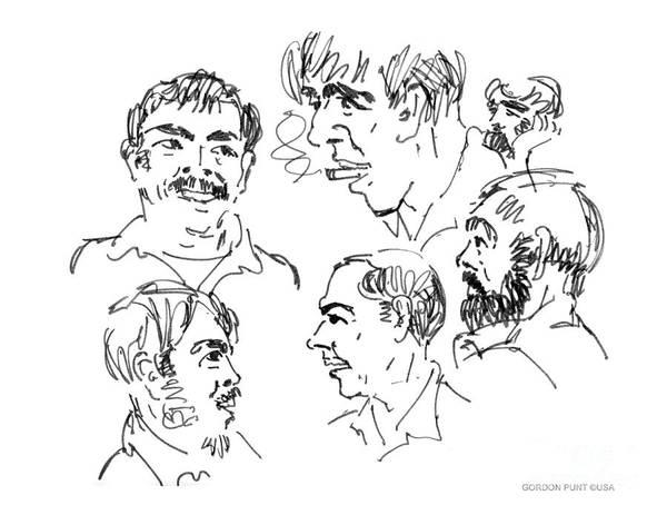 Drawing - Deepfreeze-s.pole-art6 by Gordon Punt