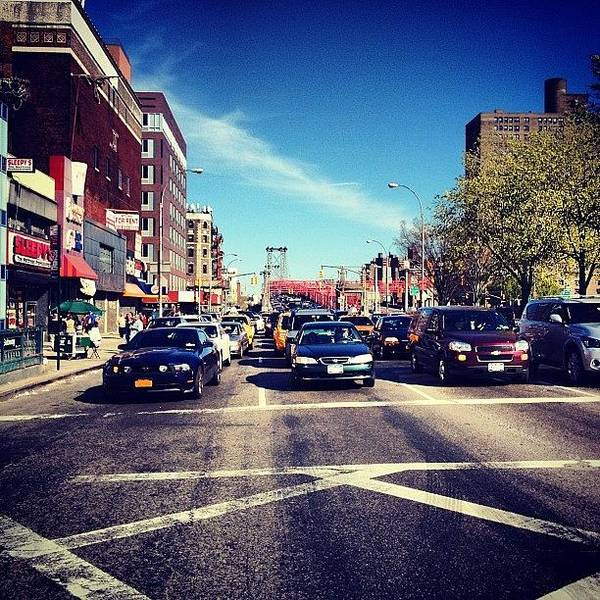 Cars Photograph - Delancey Street - Lower East Side - New York City by Vivienne Gucwa