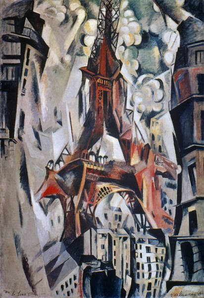 Photograph - Delaunay: Eiffel Tower, 1910 by Granger