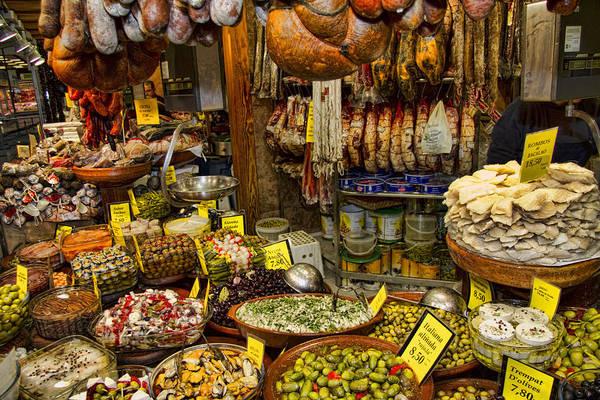 Deli Wall Art - Photograph - Deli In The Olivar Market In Palma Mallorca Spain by David Smith