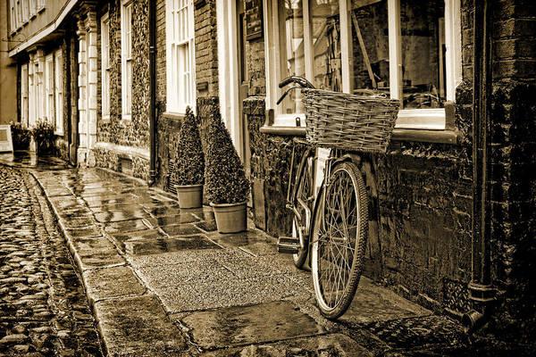 Wicker Basket Digital Art - Delivery Bike by Martin Fry