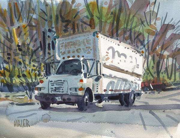 Delivery Truck Painting - Delivery Truck One by Donald Maier
