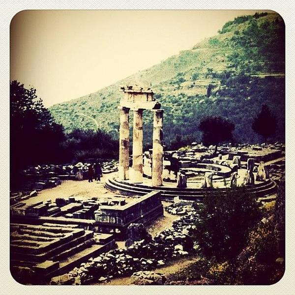 Ancient Photograph - Delphi Temple, Greece by Natasha Marco