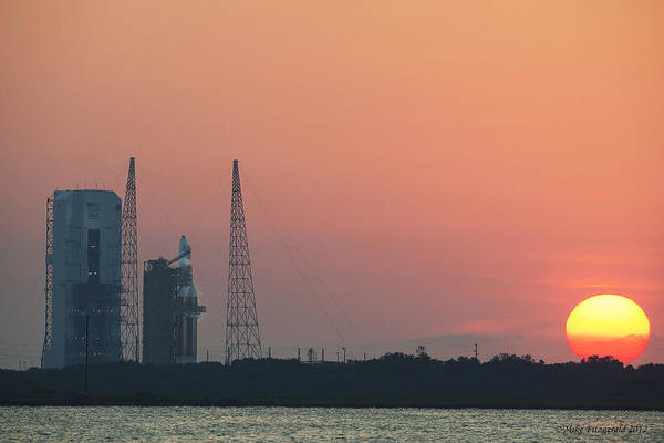 Photograph - Delta Iv Sunrise by Mike Fitzgerald