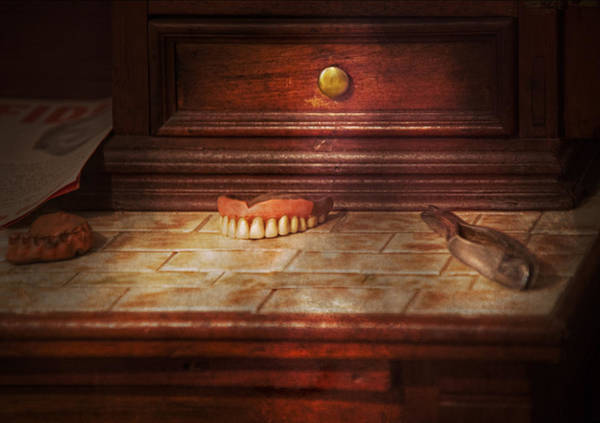 Photograph - Dentist - False Teeth by Mike Savad