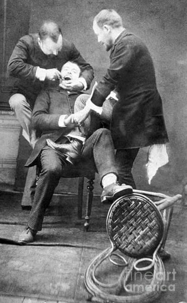Photograph - Dentistry Tooth Extraction 1892 by Science Source