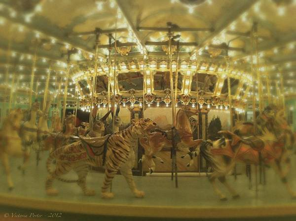 Photograph - Dentzel Carousel At Glen Echo Park Maryland by Victoria Porter