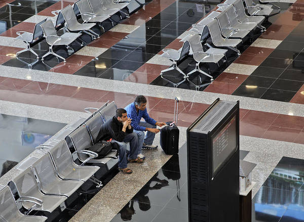 Boarding Pass Photograph - Departure Lounge by Kantilal Patel
