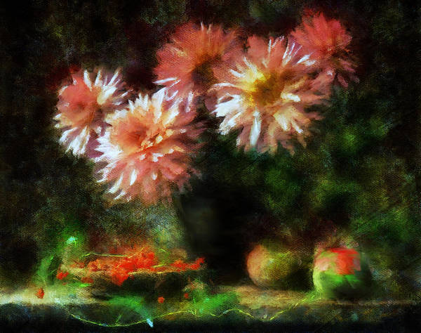 Romantic Flower Mixed Media - Depths Of Tranquility by Isabella Howard
