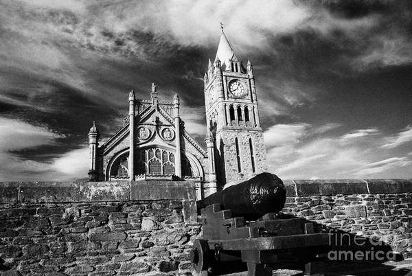 Wall Art - Photograph - Derrys Walls And Guildhall Derry City Northern Ireland by Joe Fox