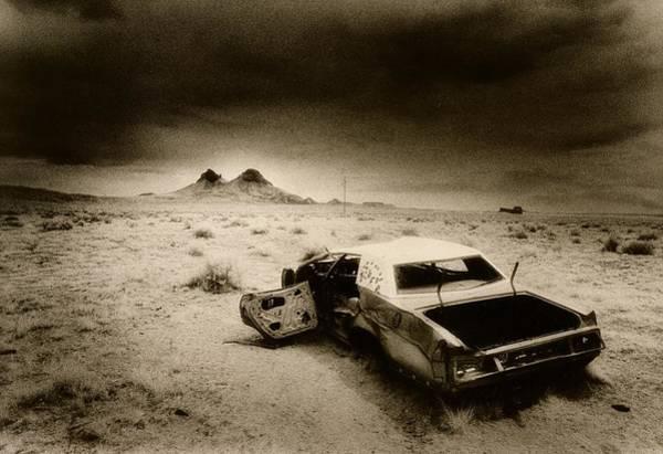 Car Wreck Wall Art - Photograph - Desert Arizona Usa by Simon Marsden