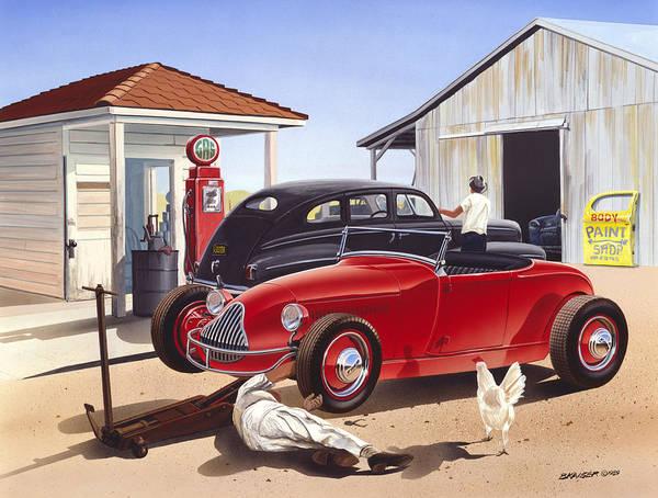 Garage Photograph - Desert Gas Station by MGL Meiklejohn Graphics Licensing