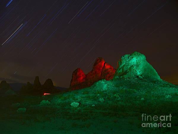 Red Bluff Photograph - Desert Landscape At Night by David Buffington